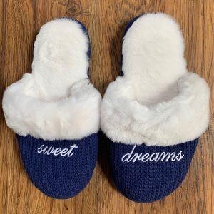 Victoria's Secret Sweet Dreams Blue Slippers